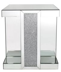 LIMITED STOCK-Beautiful crystal crackle and mirror end table