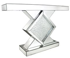 Beautiful floating crystal and mirror diamond console table