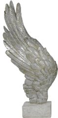 Beautiful Mother of pearl left Angel wing on stand - 49cm tall