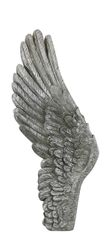 Beautiful Antique silver wall mounted Angel wing- left wing - 90cm tall