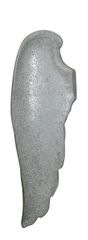 Simply stunning silver mosaic wall mounted Angel wing - left wing 105.5cm tall