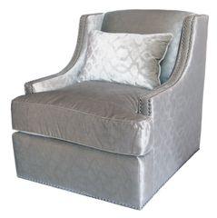 Stunning Cream Glamour swivel chair
