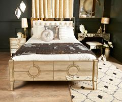 Stunning hollywood antique mirror kingsize bed frame