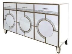 Stunning Hollywood antique mirror collection sideboard