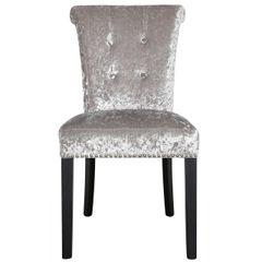 Beautiful Sophia silver crushed velvet - silver glitter back chair