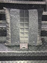 Stunning quilted soft touch velvet & glitter Ava scatter cushion - colour options