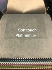 Soft touch velvet fabric samples greys/silver/naturals