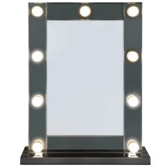 Beautiful Amara 9 LED Light with dimmer Vanity/make-up Mirror with smoked mirror finish surround