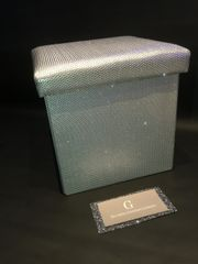 Stunning silver with disco glitter storage box