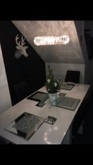 Stunning crackle crystal placemat & coaster bundles