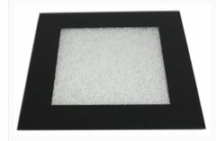 Black glass with crushed glass placemat & coasters options