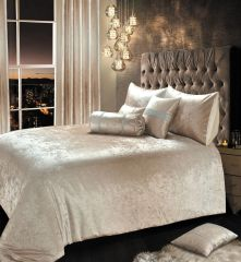 Beautiful Ombre crushed velvet bedding in colour natural - size options