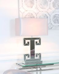 Ellie Table Lamp With Blush Pink Shade