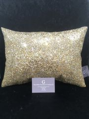Stunning Gold Claira scatter cushion 14 x 10 inch