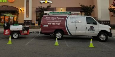 Hydro jetting commercial and residential sewer lines.