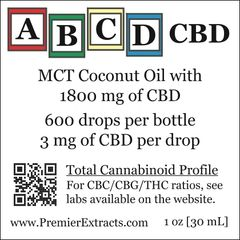20 Bottles Of ABCD 1800 Extract