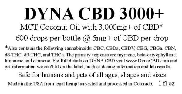 Four bottles of DYNA 3000+ for the price of three