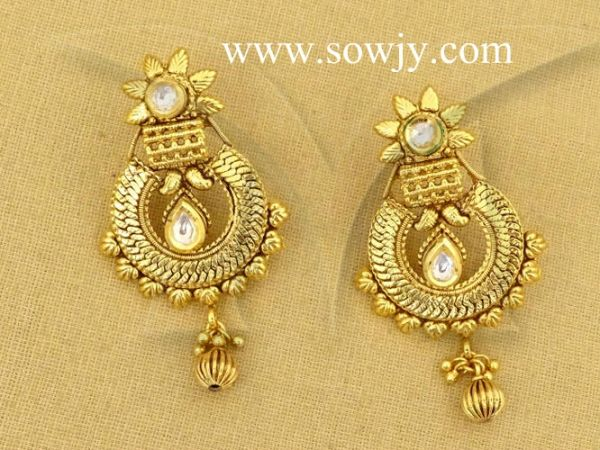 1b9fdc293b Antique One Gram Gold Plated Floral earrings!!!! | Sowjy - The ...