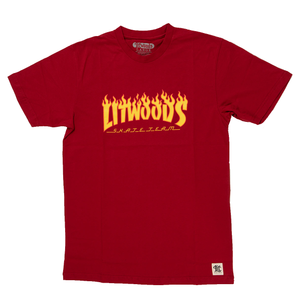 *NEW LitWoods Skate Team T Shirt