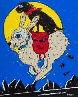 Hare Of The Dog - Black Labrador Retriever, Hare