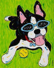 Me Tired....Never! - Boston Terrier