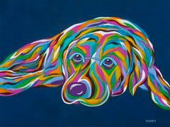Patiently Waiting - Labrador Retriever Abstract