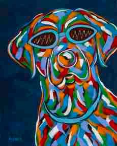 Gotta Wear Shades - Labrador Retriever Abstract