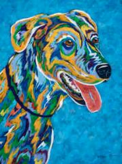 Ready To Fetch - Sharpie Original Painting, Brother Wolf Animal Rescue