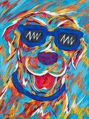 "If You're Happy & You Know It - Labrador Retriever Metal Print, SIZE 11"" W X 14"" H"