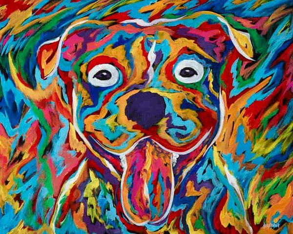 "I'm So Happy - Pit Bull Metal Print, SIZE 11"" h x 14"" w"