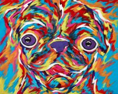 "I'm So Happy, Pug - Metal Print, SIZE 11"" h x 14"" w"