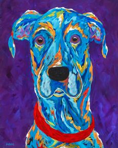 """The Great One - Great Dane Metal Print, SIZE 11"""" w x 14"""" h"""