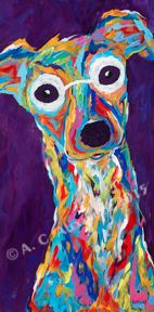 "I Love You More - Italian Greyhound Metal Print, SIZE 10"" w x 20"" h"