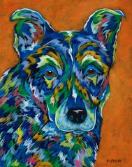 Love Me - Honey Original Painting, Brother Wolf Animal Rescue