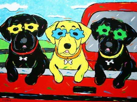 Tailgating - Labrador Retrievers