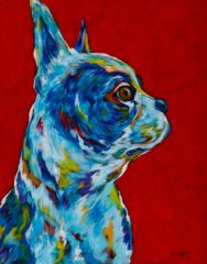 "Keeper Of My Peeps - Boston Terrier, French Bulldog METAL PRINT SIZE 11"" X 14"""