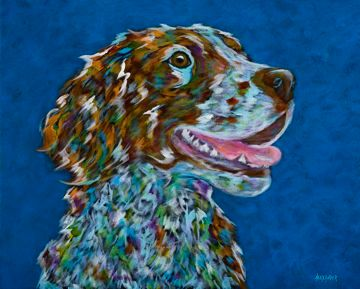 "The Good Life - Brittany Spaniel Metal Print Size 11"" x 14"""