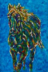 """Unstoppable - Horse METAL PRINT 24"""" X 36"""""""