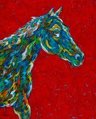 "Onwards & Upwards - Horse METAL Print 11"" x 14"""
