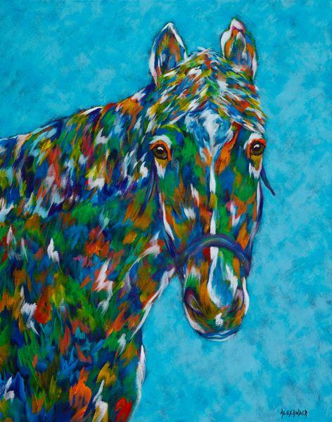 "The Healing One - 11"" x 14"" Metal Print, Horse"