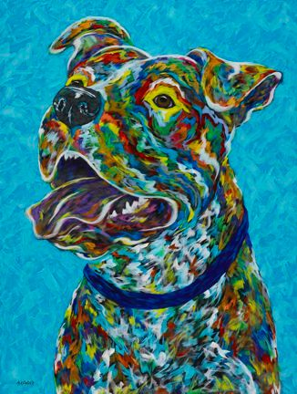 """Another Day In Paradise - Pitbull METAL PRINT 11"""" x 14"""""""