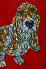 "I'm Your Best ASSET - Basset Hound METAL PRINT Size 24"" x 36"""