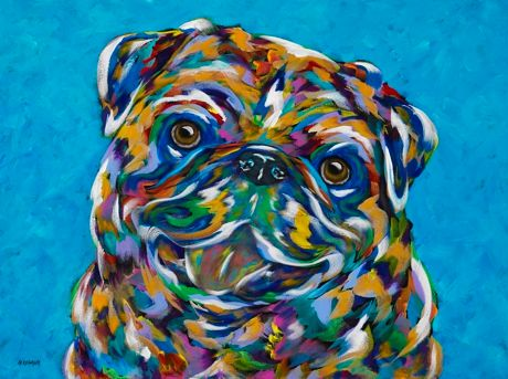 "Did You Say Cheese? - Pug, METAL PRINT SIZE 11"" X 14"""