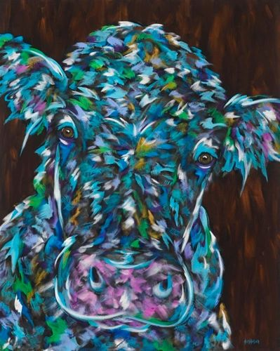 "Moo Are You? - Cow METAL PRINT SIZE 11"" X 14"""