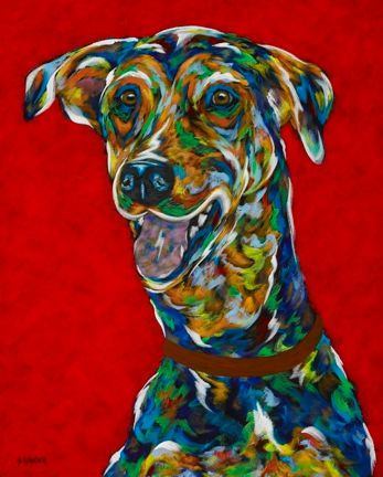 "Let's Go - Hound, Doberman, Pointer METAL PRINT Size 11"" x 14"""