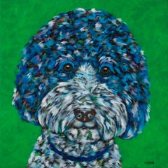 "Feed Me! - Labradoodle, Doodle - METAL PRINT SIZE 12"" X 12"""