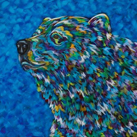 "The Majestic One - Bear - METAL PRINT 12"" x 12"""