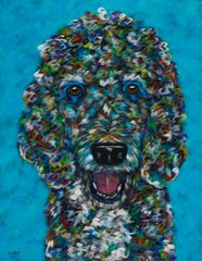 "Cookie? - Poodle METAL PRINT 11"" x 14"""