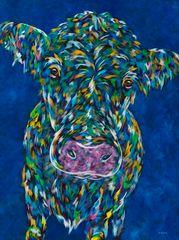 "MOOvin' On - Cow METAL ART Print Size 11"" x 14"""