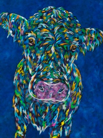"MOOvin' On - Cow METAL ART Print Size 11"" x 14"""